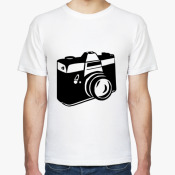 Мужская футболка фотоаппарат