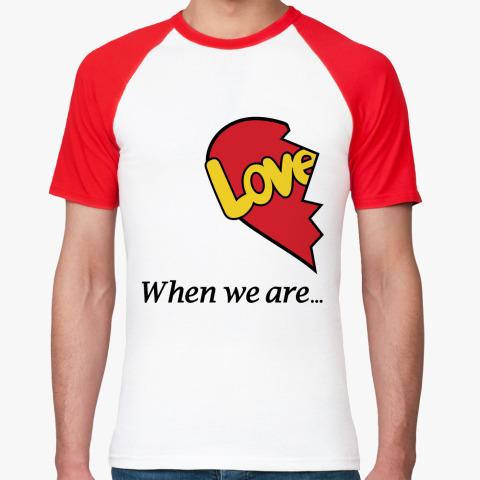 Парная футболка Love is...
