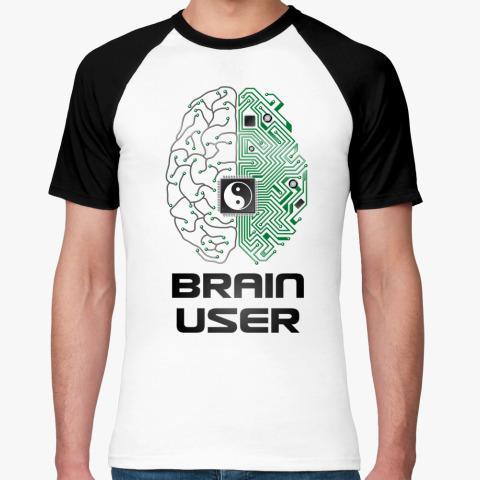 Футболка brain user инь-ян