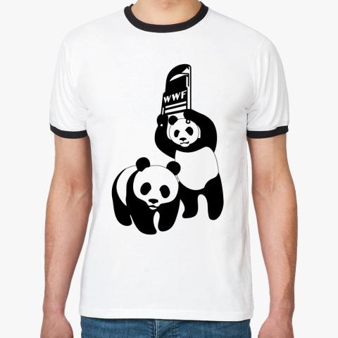 Футболка wwf Панда со стулом
