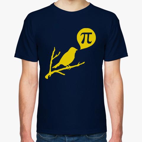 Мужская футболка Птичка Пи твиттер