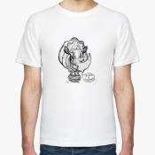 Мужская футболка Носорог