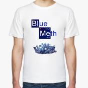 Мужская футболка blue m
