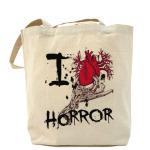 сумка I love horror - Я люблю фильмы ужасов  на 4u.printdirect.ru