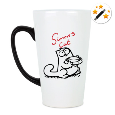 Кружка латте Simon's cat на printdirect.ru