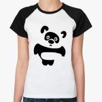 Женская футболка Панда-пух.