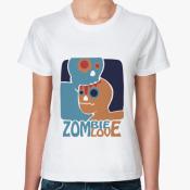 Женская футболка Zombie love