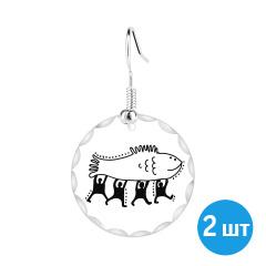 Серьги (пара) с рыбой на printdirect.ru
