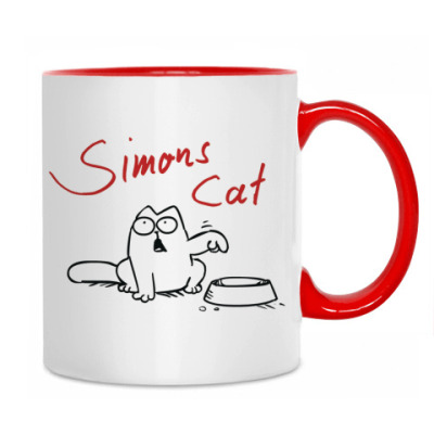 Simons Cat Cup White/Red на printdirect.ru
