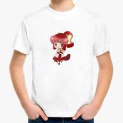 Детская аниме-футболка с чибиком.